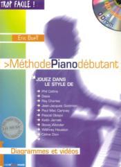 TROP FACILE ; méthode piano débutant - Couverture - Format classique