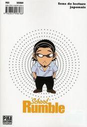 School rumble t.3 - 4ème de couverture - Format classique