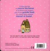 Mon tout premier conte t.2 ; Hansel et Gretel - 4ème de couverture - Format classique