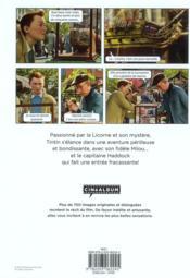 Tintin, le secret de la licorne ; cinéalbum - 4ème de couverture - Format classique