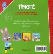Timoté visite le zoo - 4ème de couverture - Format classique