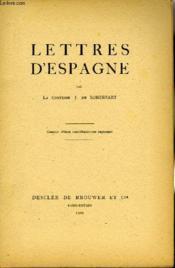 Lettres D'Espagne - Couverture - Format classique