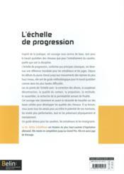 Dressage ; l'échelle de progression - 4ème de couverture - Format classique