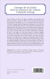 Image de la Chine chez le passeur de culture François Cheng - 4ème de couverture - Format classique