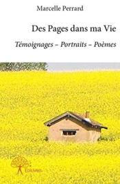 Des pages dans ma vie - Couverture - Format classique