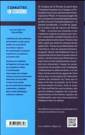 Platon - 4ème de couverture - Format classique