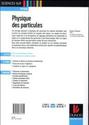 Physique des particules ; cours et exercices corrigés (2e édition) - 4ème de couverture - Format classique