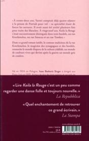 Keila la rouge - 4ème de couverture - Format classique