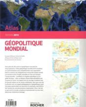 Atlas géopolitique mondial (édition 2019) - 4ème de couverture - Format classique