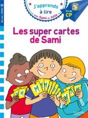 J'apprends à lire avec Sami et Julie ; niveau 3 ; les super cartes de Sami - Couverture - Format classique