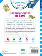 J'apprends à lire avec Sami et Julie ; niveau 3 ; les super cartes de Sami - 4ème de couverture - Format classique