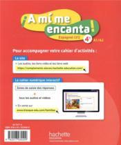 A MI ME ENCANTA ; espagnol ; 4e, LV2 ; cahier d'activités (édition 2020) - 4ème de couverture - Format classique