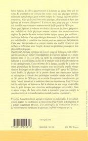 Spinoza - une physique de la pensée - 4ème de couverture - Format classique