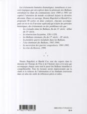 Les balkans - 4ème de couverture - Format classique