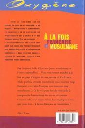 A la fois francaise et musulmane - 4ème de couverture - Format classique