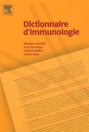 Dictionnaire d'immunologie - Couverture - Format classique