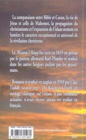 Mahomet ou jésus - 4ème de couverture - Format classique