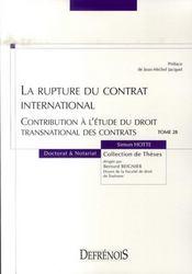 La rupture du contrat international - Intérieur - Format classique