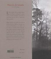 Memoire De Tempete ; Le Bois De Boulogne - 4ème de couverture - Format classique