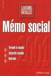 Memo Social 2001 - Intérieur - Format classique