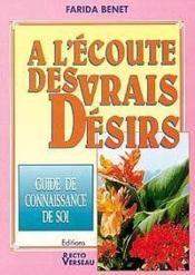 Ecoute Des Vrais Desirs (A L') - Couverture - Format classique