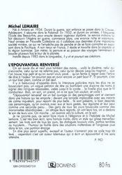 L'épouvantail renversé - 4ème de couverture - Format classique