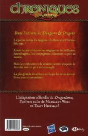Chroniques de Dragonlance T.3 ; dragons d'une aube de printemps t.1 - 4ème de couverture - Format classique