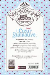Les filles au chocolat T.2 ; coeur guimauve - 4ème de couverture - Format classique