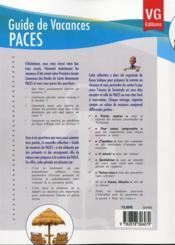 Guide De Vacances Paces Ue2 Histologie - 4ème de couverture - Format classique