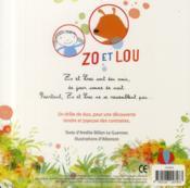 Zo et Lou et les contraires - 4ème de couverture - Format classique