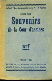 Souvenirs De La Cour D'Assises. Collection : Les Documents Bleus N° 8 - Couverture - Format classique