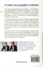 Dix idées qui coulent la France - 4ème de couverture - Format classique