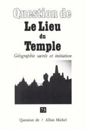 Le Lieu du temple - Couverture - Format classique