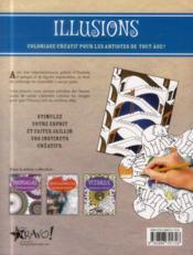 Coloriage créatif ; illusions - 4ème de couverture - Format classique