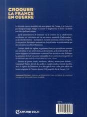 Croquer la France en guerre 1939-1945 - 4ème de couverture - Format classique