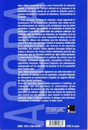 REVUE AGORA DEBATS JEUNESSES N.45 ; jeunes générations en Europe : regards croisés Est-Ouest - 4ème de couverture - Format classique