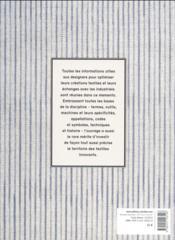 Fibres, fils, tissus ; de l'artisanat à l'industrie ; mémento à l'usage des designers textile - 4ème de couverture - Format classique