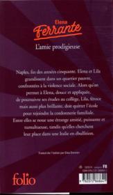 L'amie prodigieuse t.1 - 4ème de couverture - Format classique