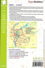 TOPO-GUIDES ; RANDOCITADINES ; Lyon... à pied - 4ème de couverture - Format classique