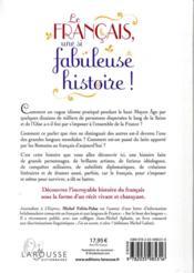 Le français, une si fabuleuse histoire ! - 4ème de couverture - Format classique