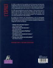 L'espace ; la méthode scientifique - 4ème de couverture - Format classique