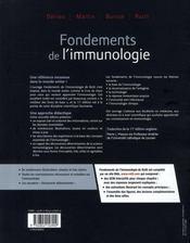 Les fondements de l'immunologie - 4ème de couverture - Format classique