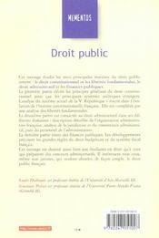 Droit public - 4ème de couverture - Format classique