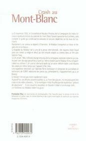 Crash au Mont-Blanc ; les fantômes du Malabar Princess - 4ème de couverture - Format classique