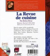 La revue de cuisine + cd gratuit - 4ème de couverture - Format classique