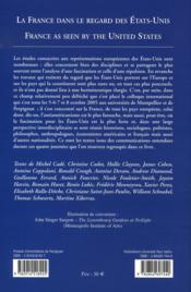 La france dans le regard des états-unis - 4ème de couverture - Format classique