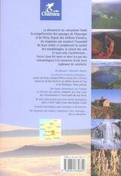 Le volcanisme en Auvergne - 4ème de couverture - Format classique