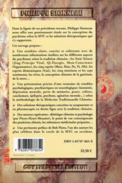 Troubles psychiques en medecine chinoise ; les solutions de l'acupuncture et de la pharmacopée - 4ème de couverture - Format classique