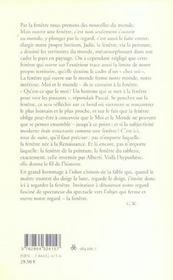 Fenetre - 4ème de couverture - Format classique