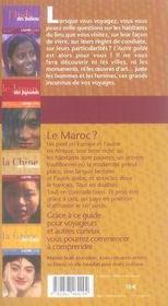 Le maroc des marocains - 4ème de couverture - Format classique